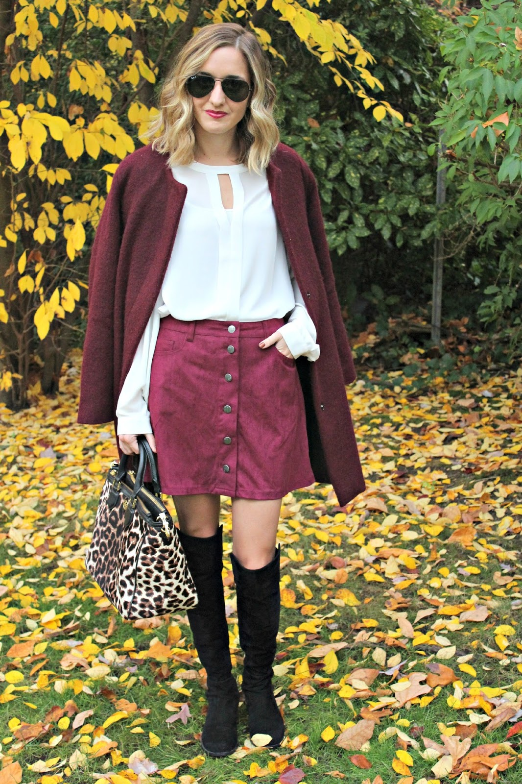 oxblood outfit