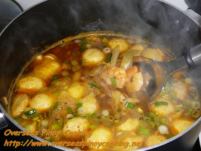 Seafood Sotanghon with Squid Ball Soup Cooking Procedure