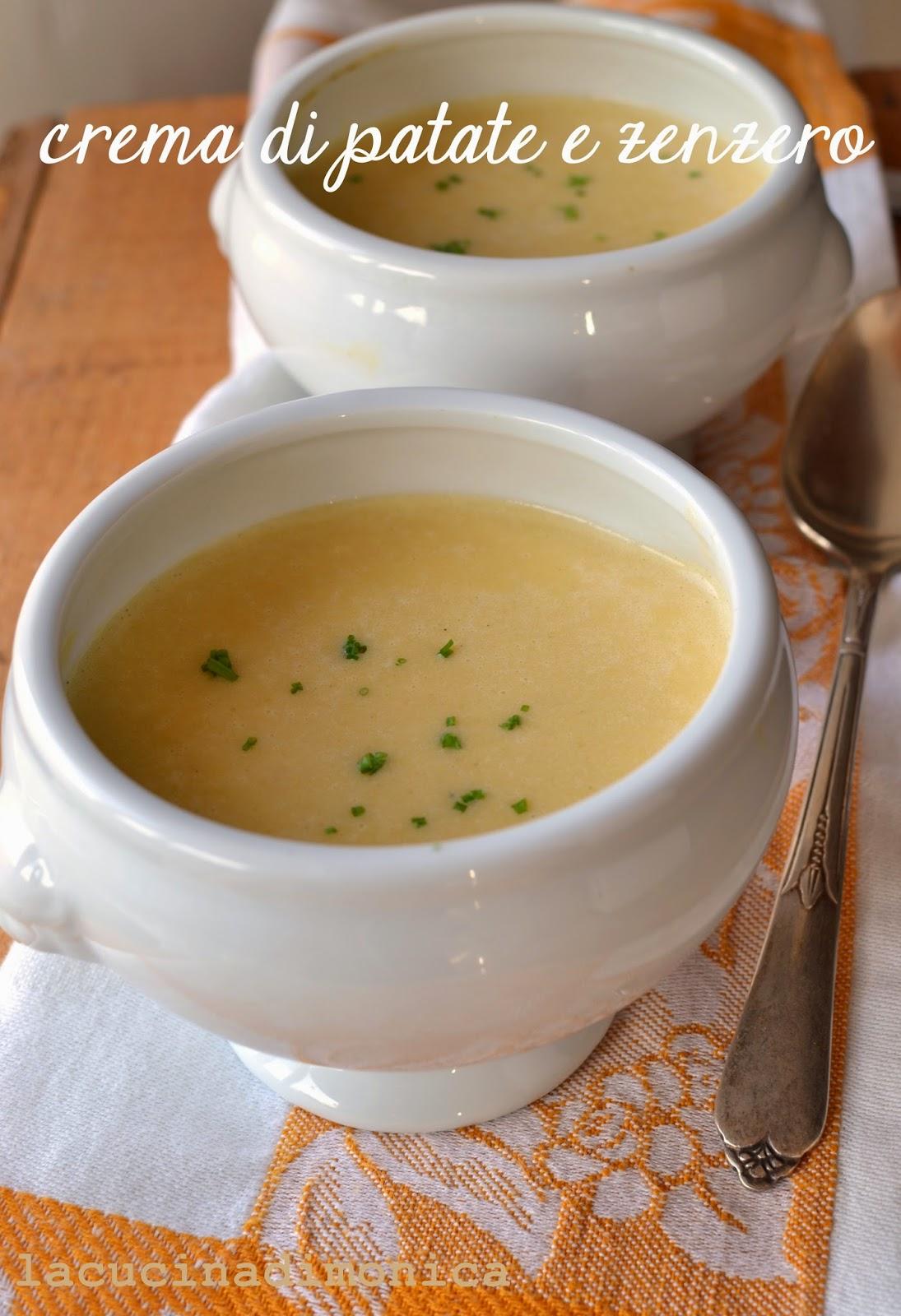 crema di patate e zenzero