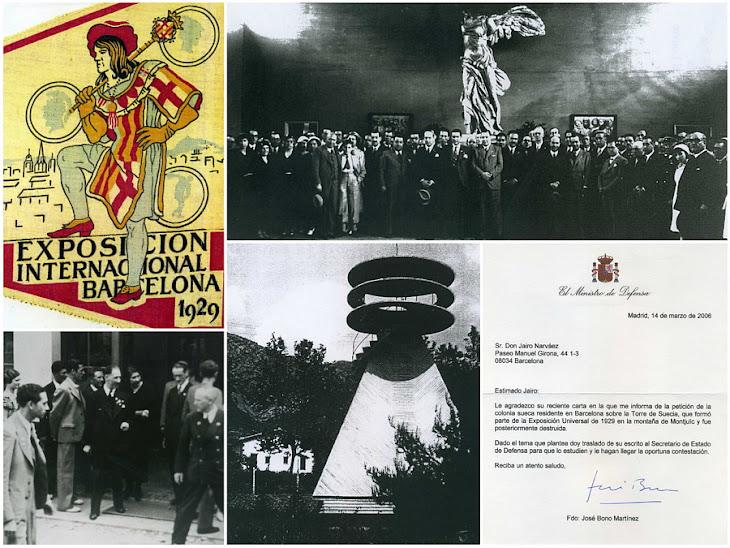 La Torre de Suecia en Montjuïc Barcelona es Patrimonio Barcelonés desde 1931 (Swedish Tower 1929)