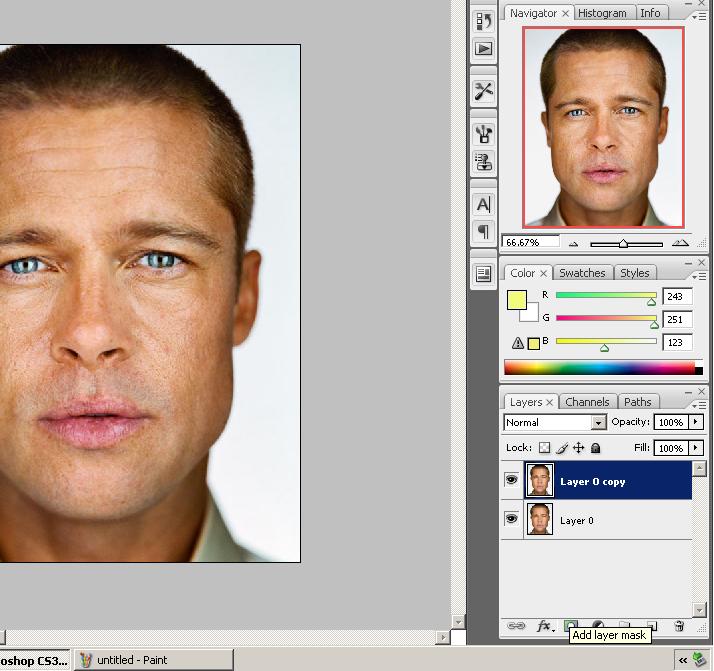 cara belajar tutorial photoshop retouch menghaluskan kulit dengan photoshop 3