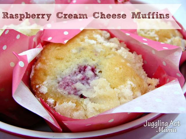 Raspberry Cream Cheese Muffins