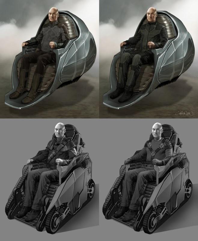 Arte conceptual de X-Men: Días del Futuro pasado - Xavier