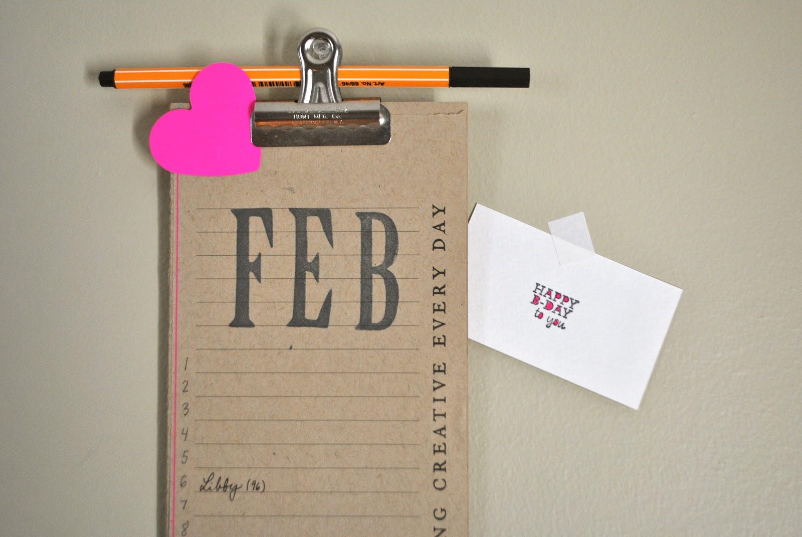 Diy Birthday Calendar : A thoughtful diy perpetual birthday calendar
