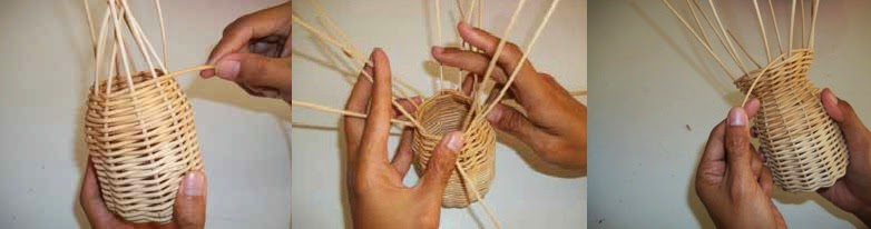 Prakarya Cara Membuat Wadah Pulpen dari Rotan