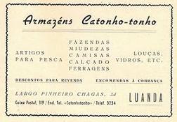 A PUBLICIDADE NO ANO 1955, ARMAZÉNS CATONHO - TONHO.