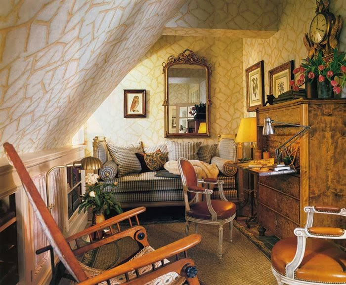 Eye for design decorating an attic room with coziness and An attic room