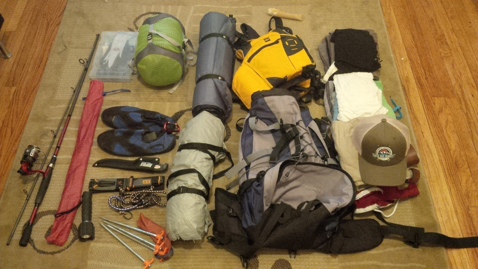 All needed camping gear