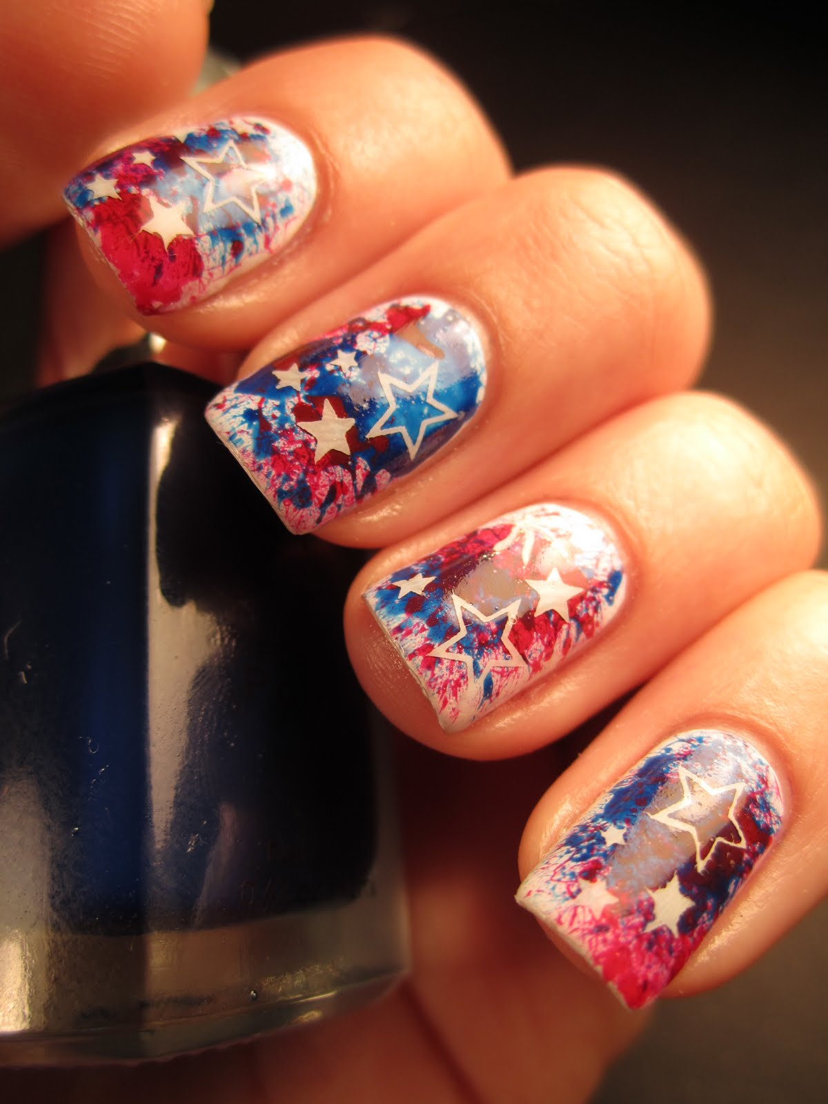 jessica 39 s nail art happy 4th of july. Black Bedroom Furniture Sets. Home Design Ideas