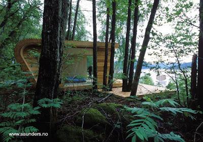 Cabaña vanguardista noruega hecha con madera