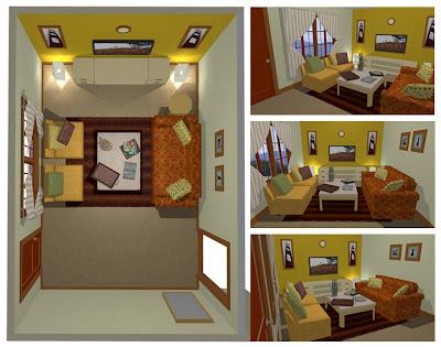 rumah kontrakan on Kontentika: Desain Ruang Tamu Untuk Rumah Kontrakan