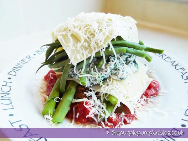 Deconstructed Vegetable Lasagne – Under 400 Calories