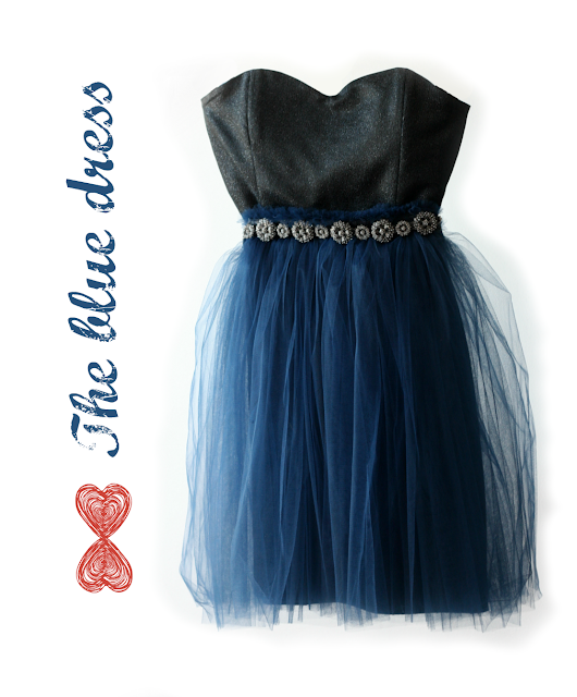 tulle blue dress / vestido azul de tul
