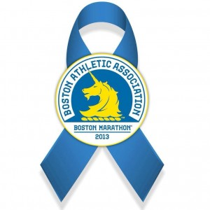 Boston Strong ribbon Boston Marathon ribbon