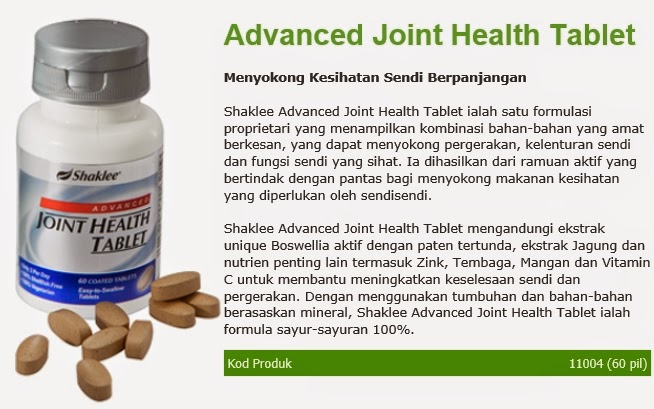 Advance Joint Health Tablet : Melegakan lutut dan sendi