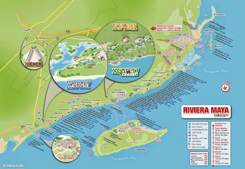 Mapa Cancun - México