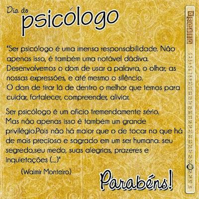 27 de Agosto, Dia do Psicólogo