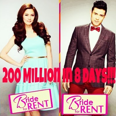 Bride For Rent Gross P200 Million at the Box Office in 8 Days