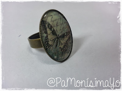 Anillo camafeo mariposa vintage @pamonisimayo Monerías
