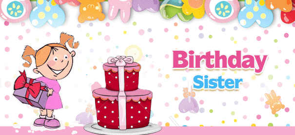 cute sister birthday card  send everyday, Birthday card