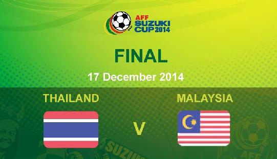 live streaming Malaysia Vs Thailand 17 Disember 2014