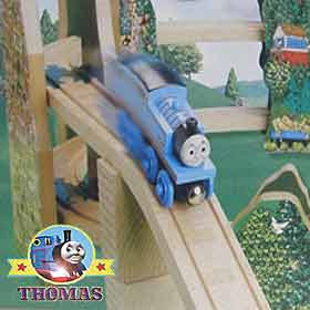 Learning Curves quality manufacturing Thomas the tank engine Wooden Railway Race down the Rails toy