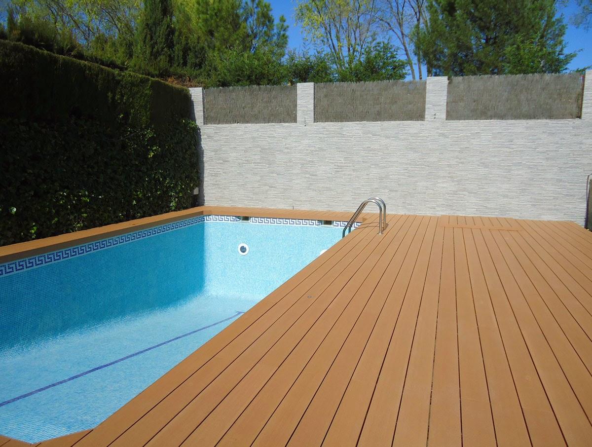 los suelos de madera para piscinas de madera natural o madera teconolgica