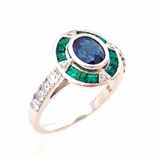 failey bespoke sapphire emerald and