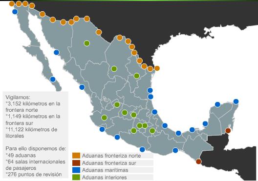 Aduanas en la Frontera Norte de Mexico 19 en la Frontera Norte