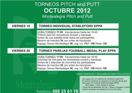 torneo de octubre en Montalegre Pith & Putt