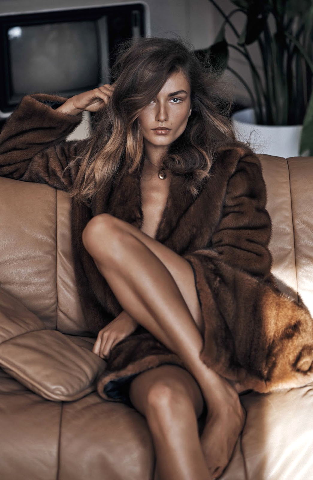 Best Fall/Winter 2015 coats - camel, animal print, military, leather, suede, fur and more / Vogue China November 2015 (photography: Lachlan Bailey, styling: Clare Richardson, model: Andreea Diaconu) / via www.fashionedbylove.co.uk