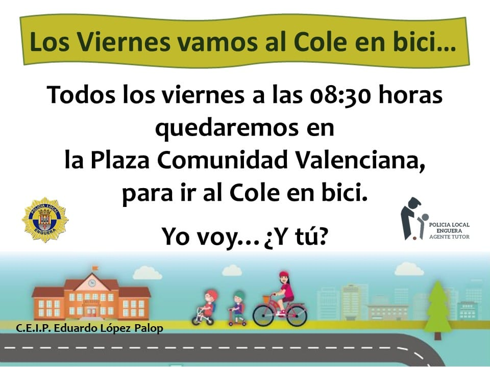 Vamos al cole en bici..