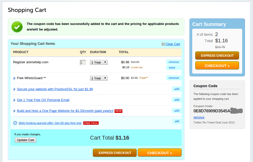 Namecheap discount coupon