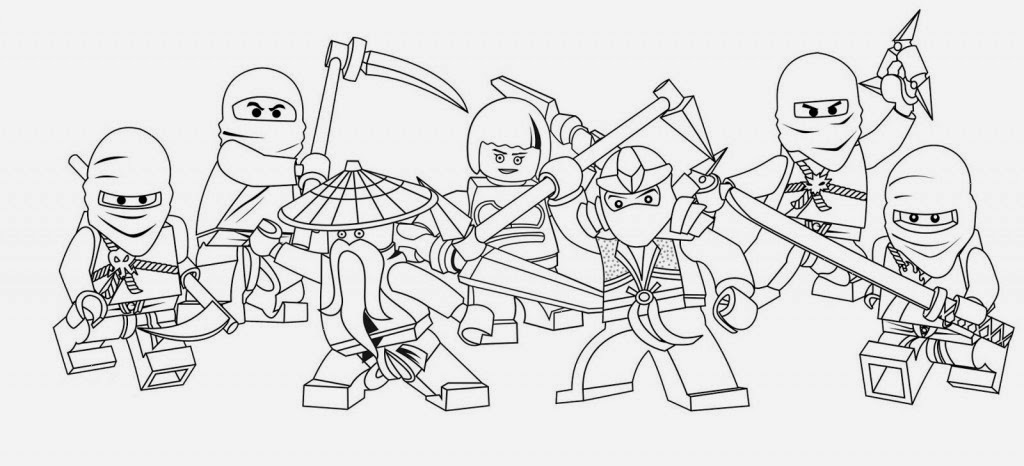 The Printable Ninjago Coloring Drawing Free wallpaper