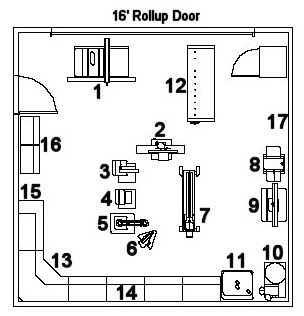 Garage Woodworking Shop Layout Plan