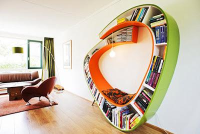 Diseño de mueble moderno con estante incluido