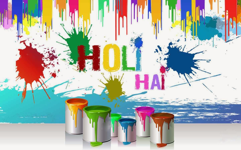 Holi hai colourful painting wallpaper