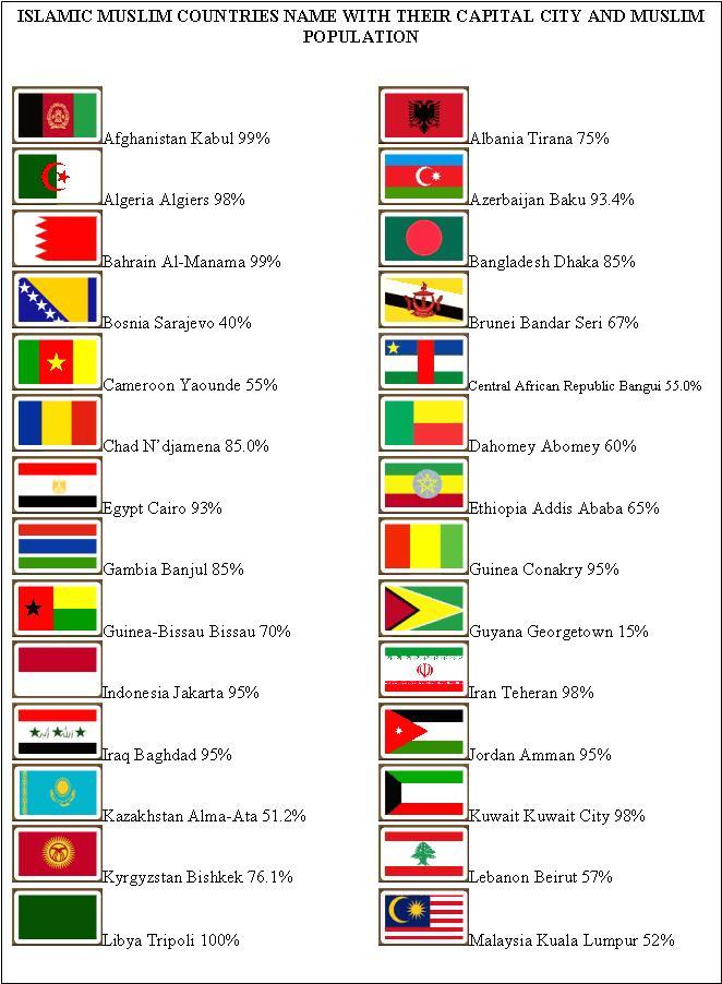 flags of islamic countries the true islamic world