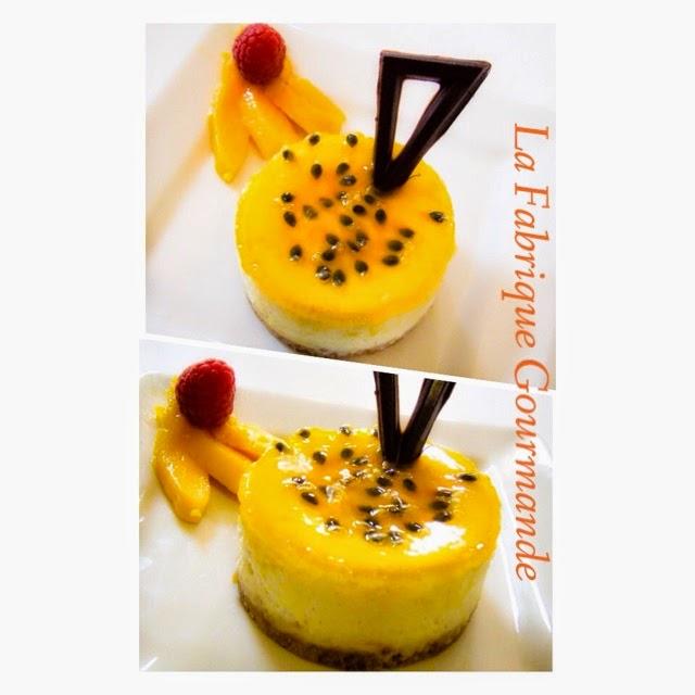 La fabrique gourmande cheesecake fruit de la passion mangue - Cheesecake fruit de la passion ...