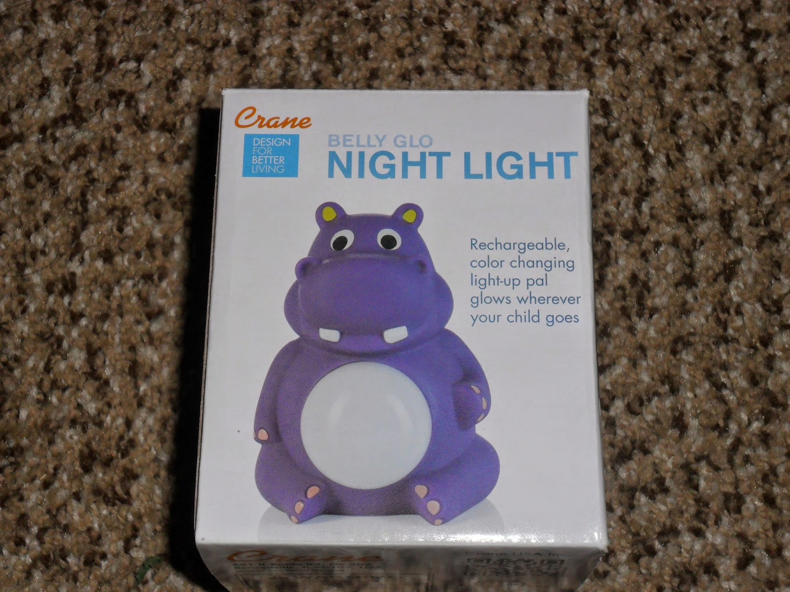 No more dark nights with Crane Belly Glow Night Light. Review (Blu me away or Pink of me Event)