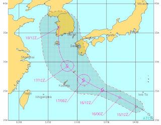 08W (pot. Tropischer Sturm KHANUN) zieht voraussichtlich nach Jeju und Südkorea, Khanun, aktuell, Taifunsaison, Taifunsaison 2012, Vorhersage Forecast Prognose, Juli, 2012,