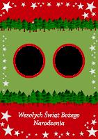 szablony kartek bożonarodzeniowych