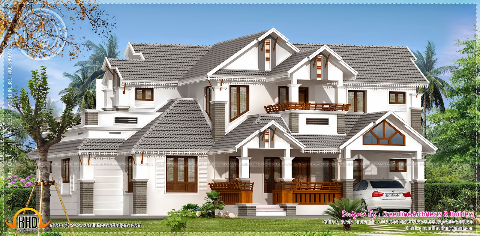2543 sq feet beautiful villa in kerala kerala home for Beautiful villa design