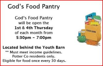3-5  God's Food Pantry