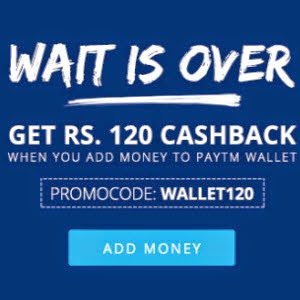Wallet 4% Cashback on Deposit of Rs. 400 at Paytm : Buy To Earn