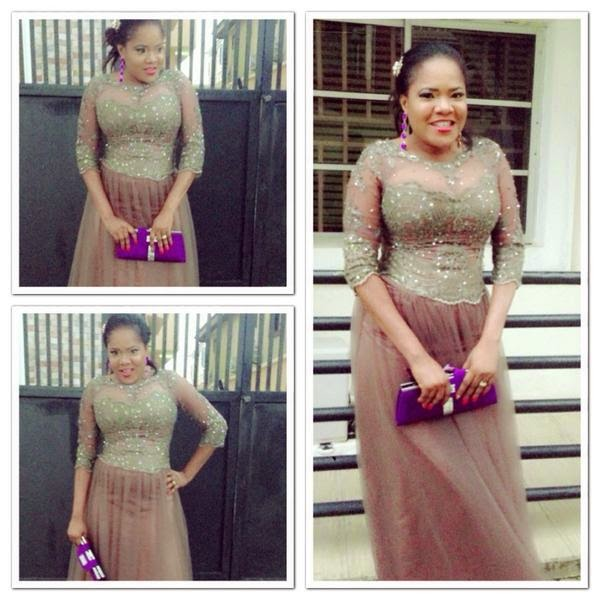 Toyin Aimakhu in a Lovely Dress
