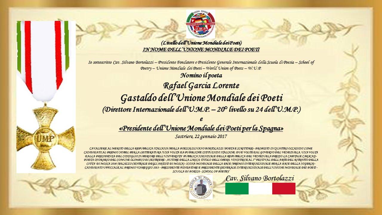Nombramiento del Cavalieri Silvano Bortolazzi