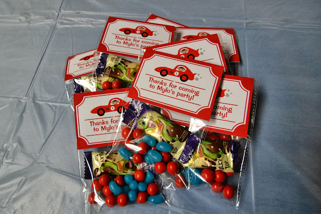 Stuck on You racing party favours