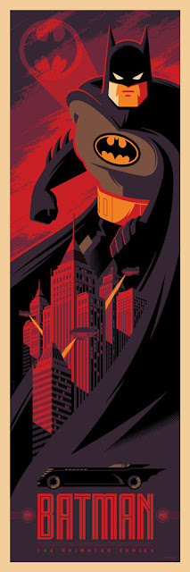 Batman: The Animated Series DC Comics Screen Print by Tom Whalen