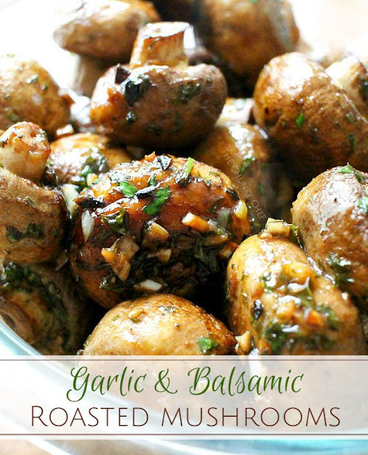 garlic and balsamic roasted mushrooms